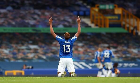 Yerry Mina Everton v Liverpool