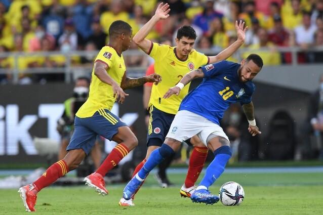 Neymar, en partido de la Selección Colombia contra Brasil