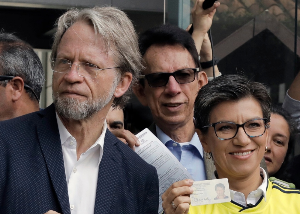346368_BLU Radio. Antanas Mockus y Claudia López // Foto: AFP