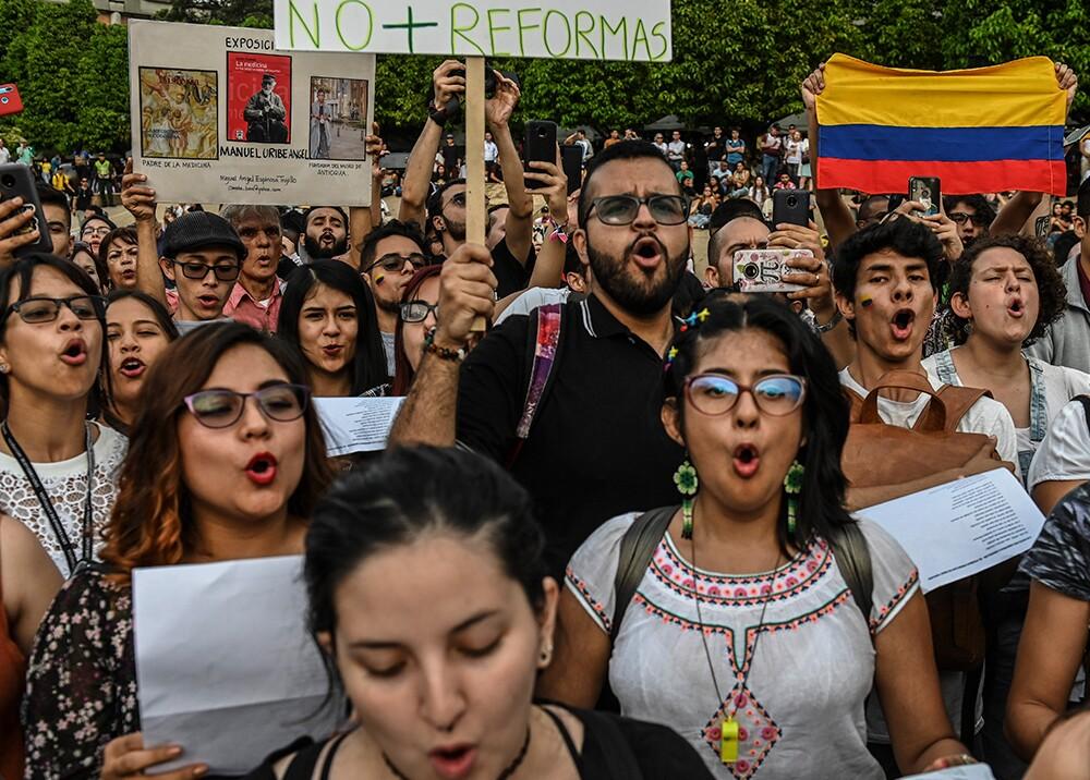 355219_Protestas del paro nacional // Foto: AFP