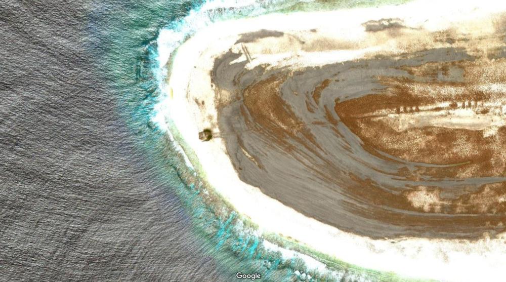 Hallazgo en la isla Starbuck a través de Google Maps