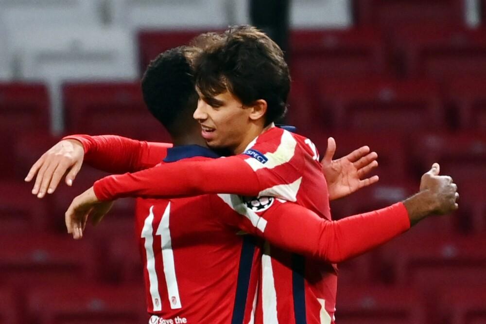 Joao Felix celebra uno de los goles del Atlético por Champions AFP.jpeg