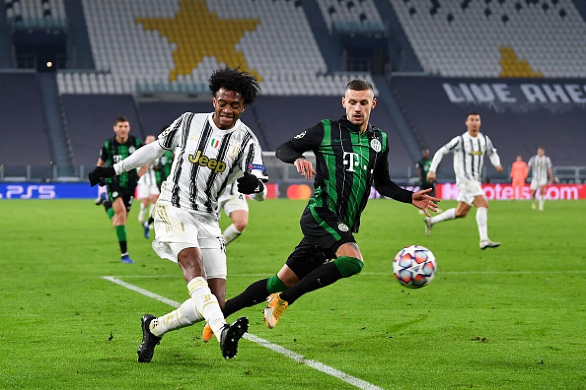 Juan Guillermo Cuadrado, desequilibrante y efectivo en el triunfo 2-1 de  Juventus sobre Ferencvaros