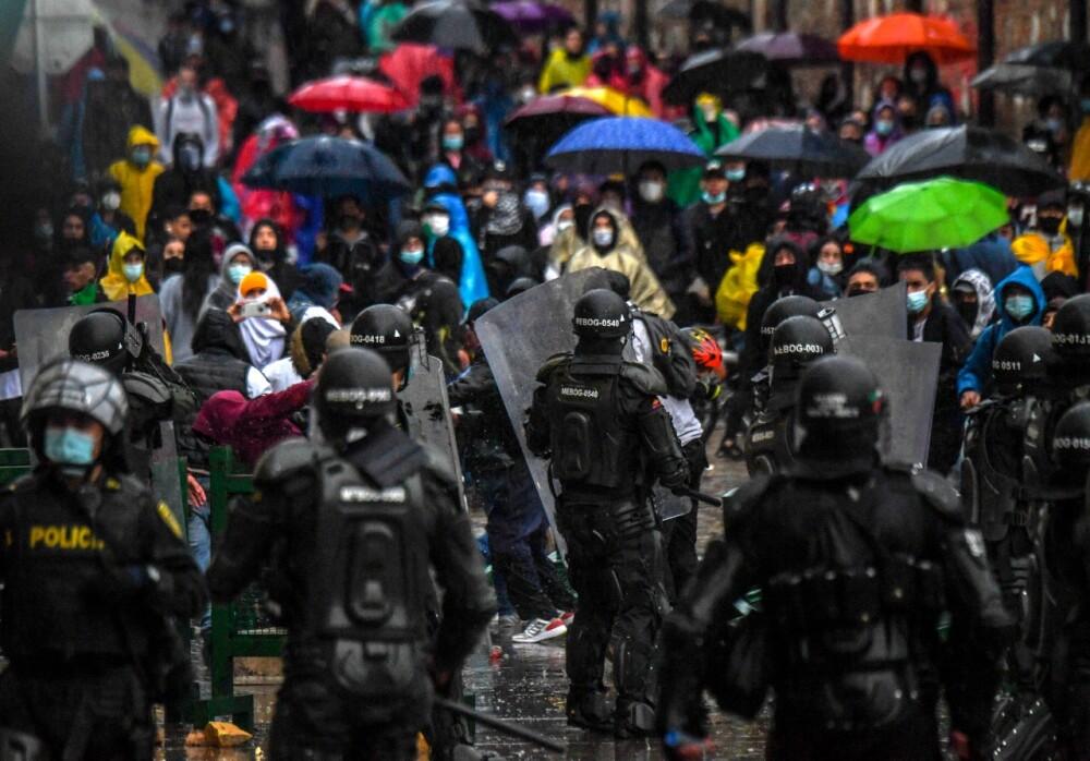 Protestas manifestaciones esmad bogotá paro nacional AFP.