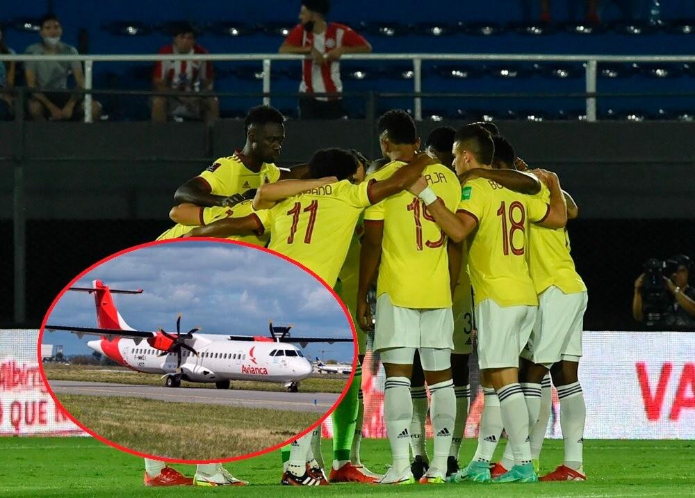 Selección Colombia avión Fotos afp.jpeg