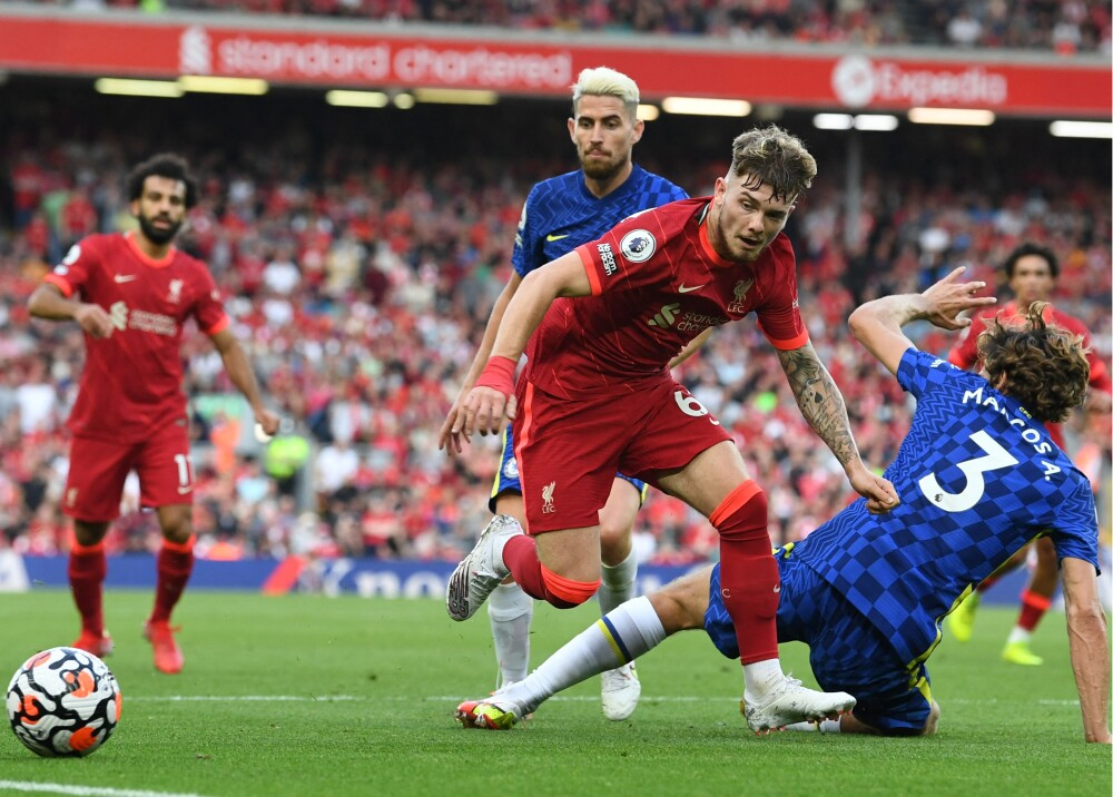 Liverpool y Chelsea no se sacaron diferencias y empataron 1-1 en Anfield Foto AFP.jpg
