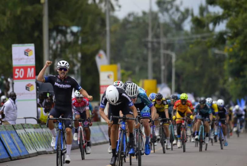 Brayan Sánchez ganó la etapa 1 del Tour de Ruanda.
