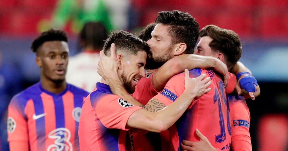 Sevilla 0 - Chelsea 4: 'póker' de goles de Olivier Giroud en goleada y clasificación de los 'blues'
