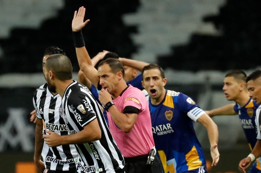 Partido entre Boca Juniors y Atlético Mineiro, en Copa Libertadores. AFP.jpeg