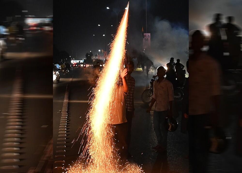 Quema de pólvora / AFP, imagen de referencia
