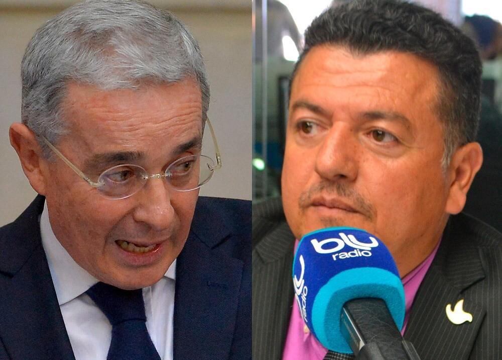 371743_Álvaro Uribe y Hugo Ospina // Fotos: AFP, BLU Radio