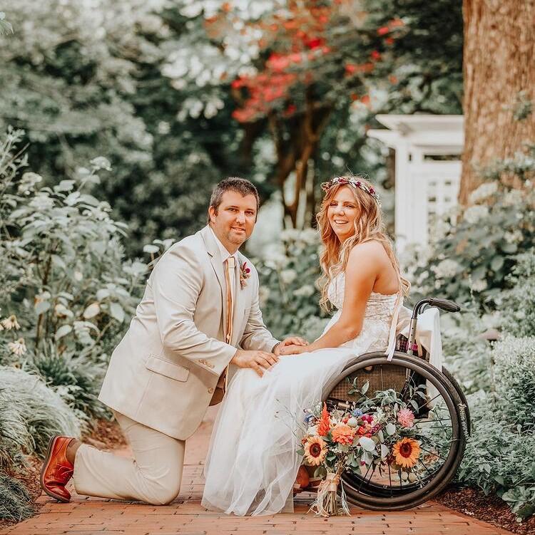 Rachelle y su esposo