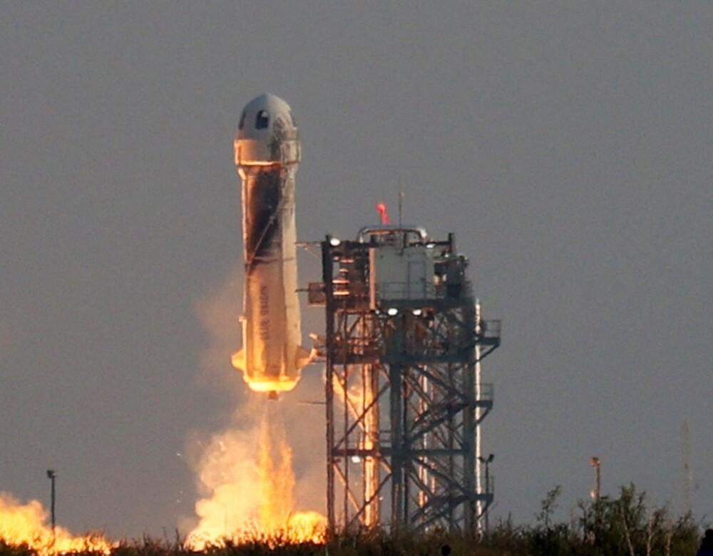 Cohete de Blue Origin. Foto AFP