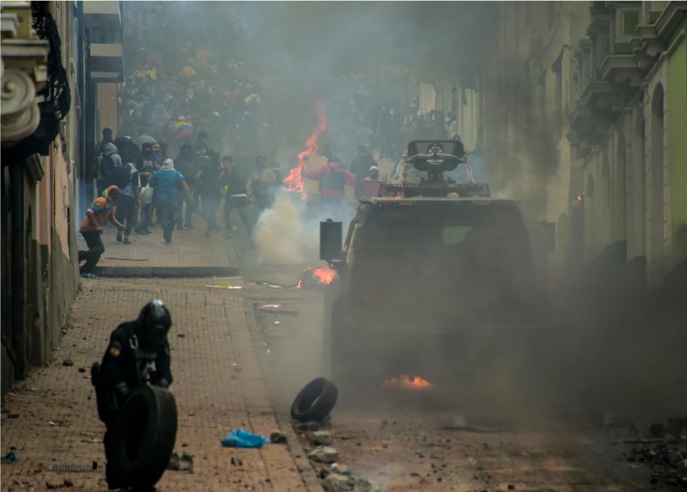 345510_BLU Radio. Protestas indígenas en Ecuador // Foto: AFP