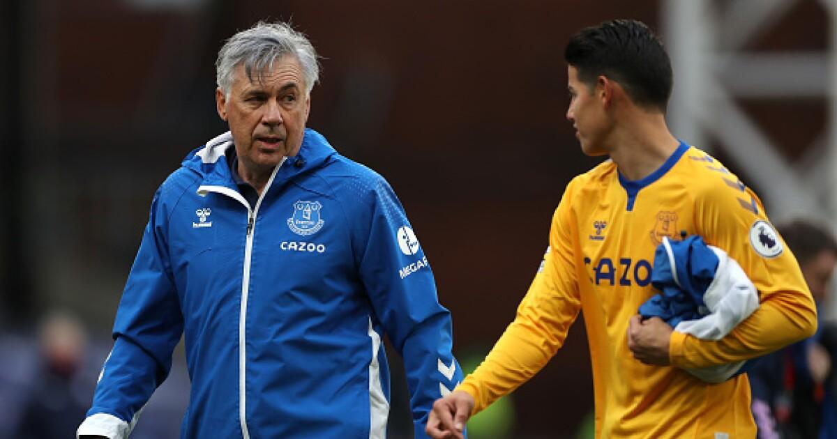 Una vez más, Carlo Ancelotti sale al rescate de James Rodríguez: Everton arropa al colombiano