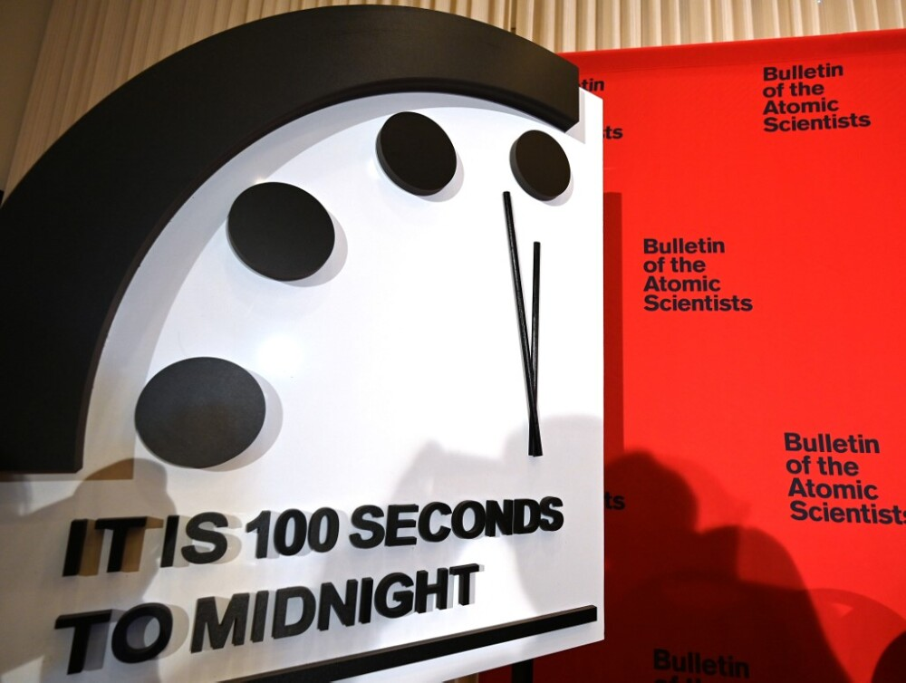 Reloj del apocalipsis. Foto AFP
