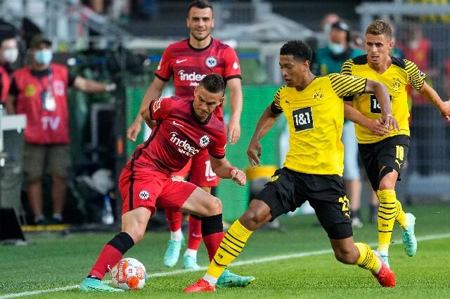 Rafael Santos Borré, en Eintracht Frankfurt contra Borussia Dortmund