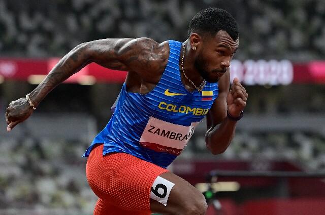 Anthony Zambrano, en los Juegos Olímpicos de Tokio