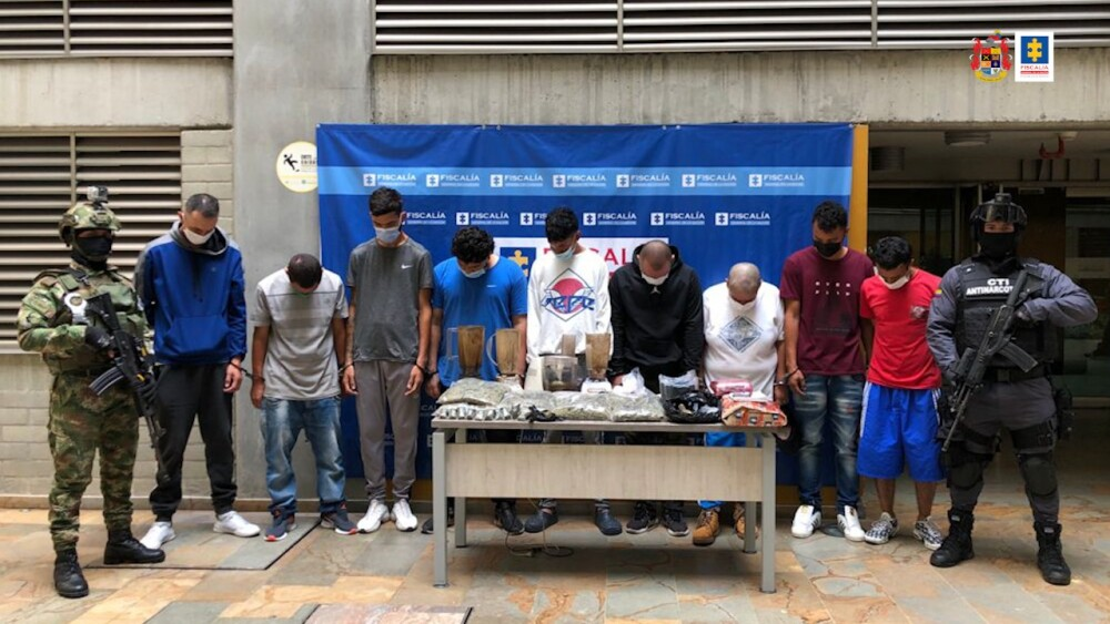 Captura de integrantes del grupo ilegal Caicedo en Medellín .jpeg