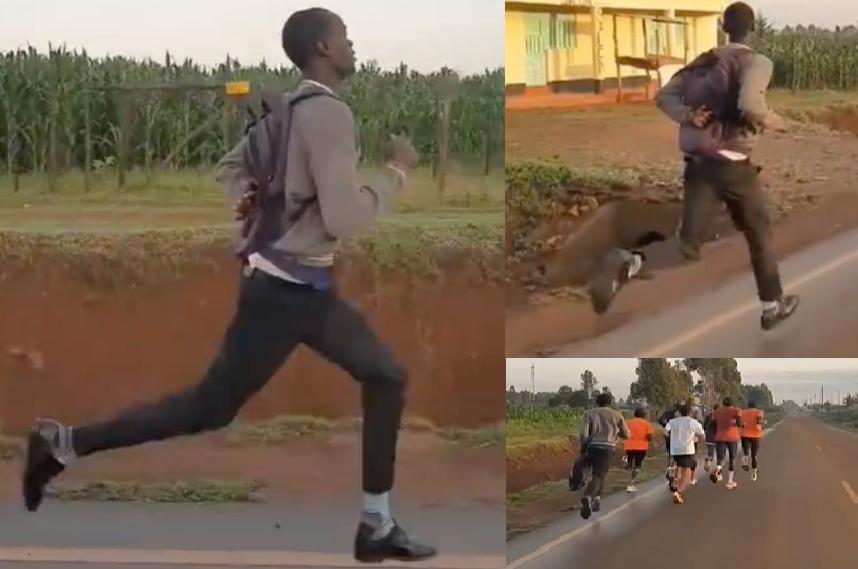 Estudiante que recorre kilómetros corriendo para llegar a clase