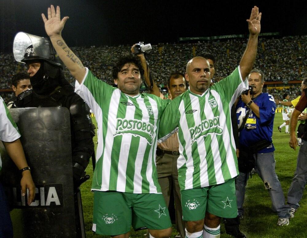 Diego Maradona y Chicho Serna