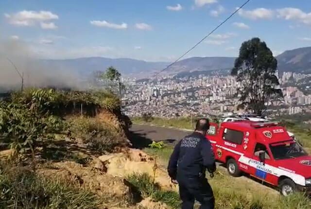 Incendio en cerro tutelar de Envigado / Cortesía.