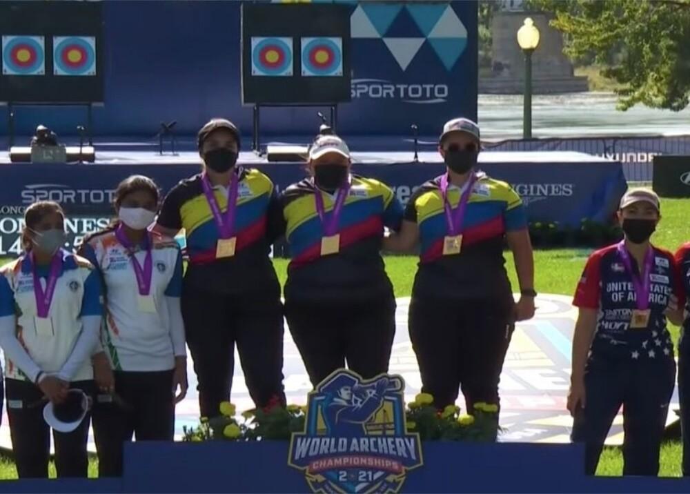 Colombia campeona del Mundial de Tiro con Arco en equipo femenino compuesto Foto FEDEARCO.jpg