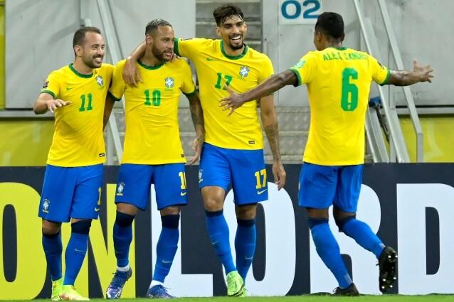 Jugadores de la Selección Brasil