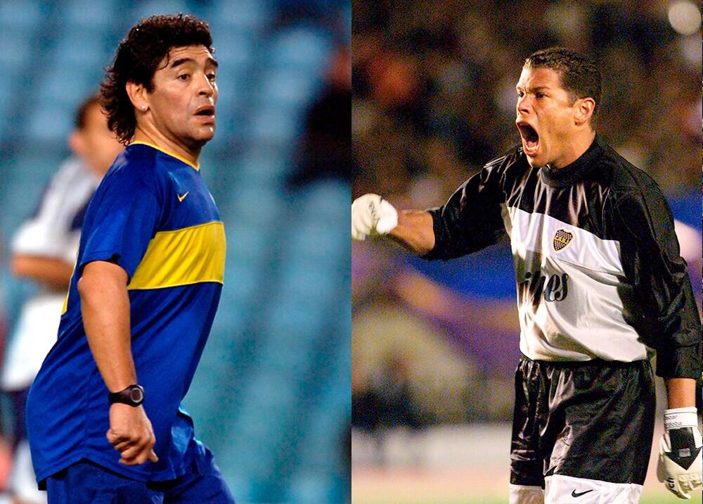Diego Armando Maradona y Óscar Córdoba