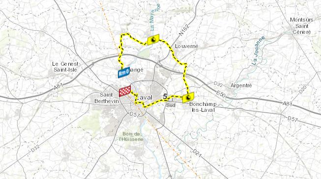 Así será la etapa 5 del Tour de Francia.