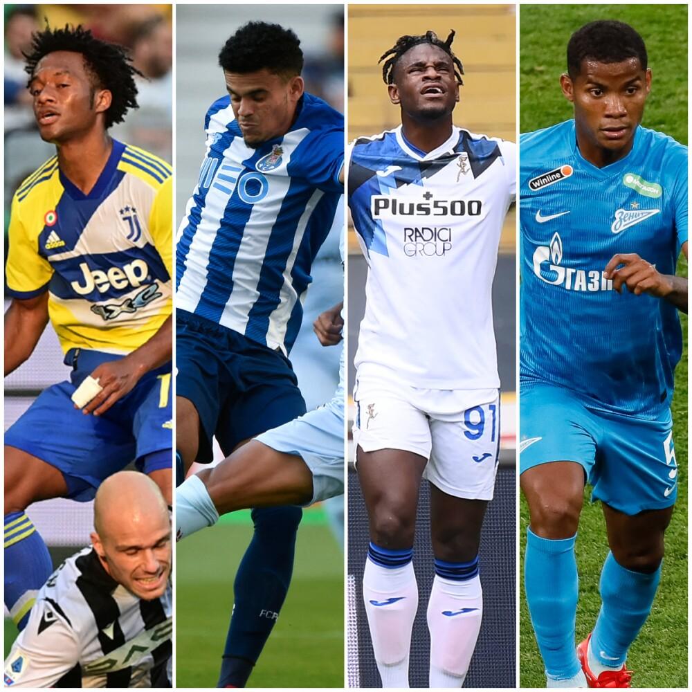 Futbolistas colombianos Champions League