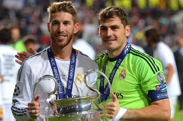 Sergio Ramos e Iker Casillas, referentes del Real Madrid