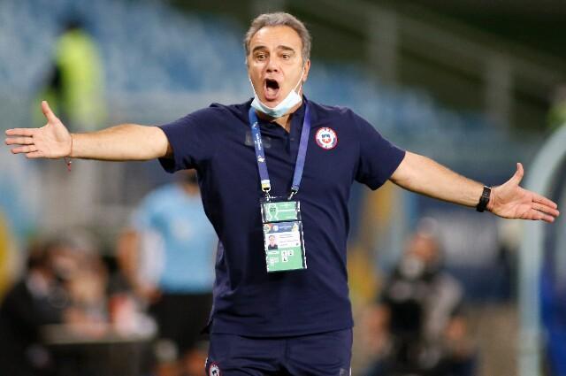 Martín Lasarte, en la Selección de Chile