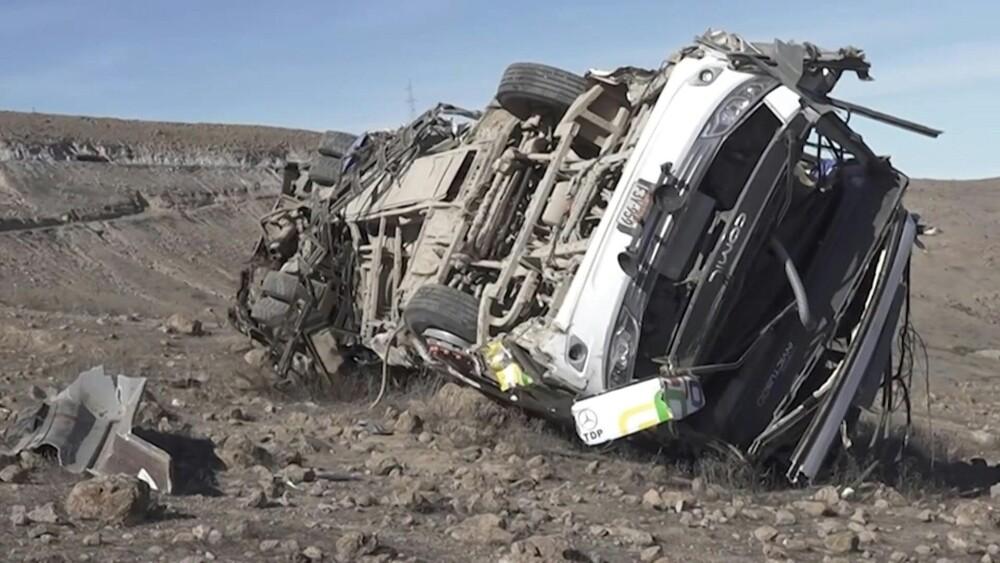 accidente de bus en Perú.