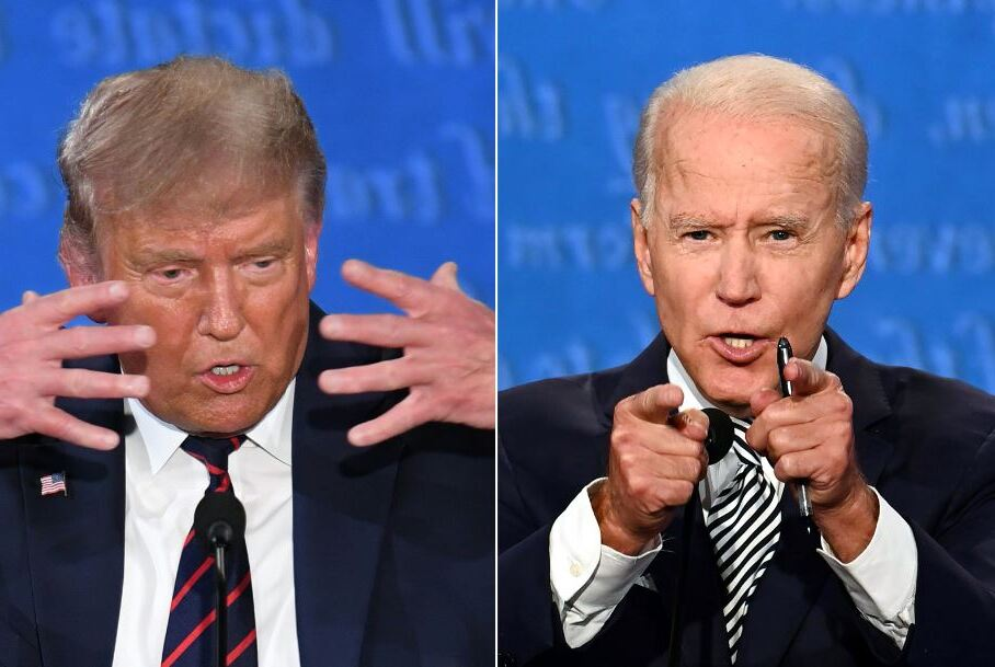 Donald Trump - Joe Biden. Foto: AFP