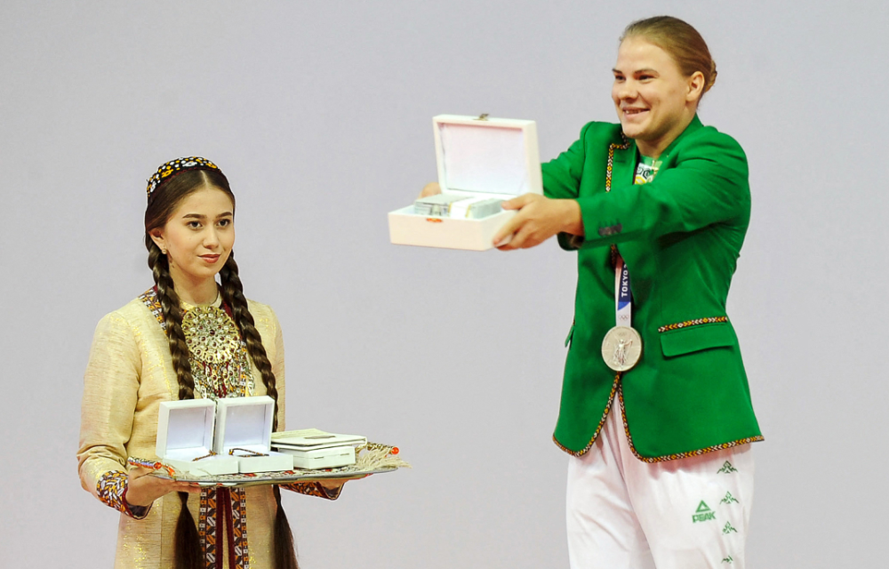 Polina Guryeva fue la primera medallista olímpica de Turkmenistán.