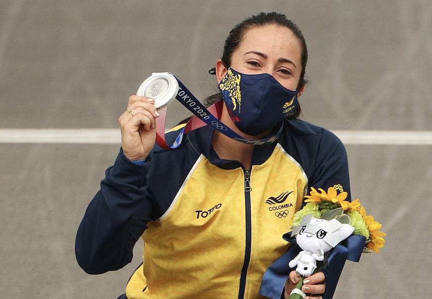 Mariana Pajón logró su tercera medalla en la historia de los  Juegos Olímpicos.