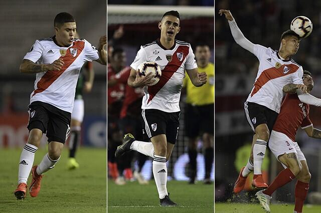 332494_uan Fernando Quintero, Rafael Santos Borré y Jorge Carrascal.