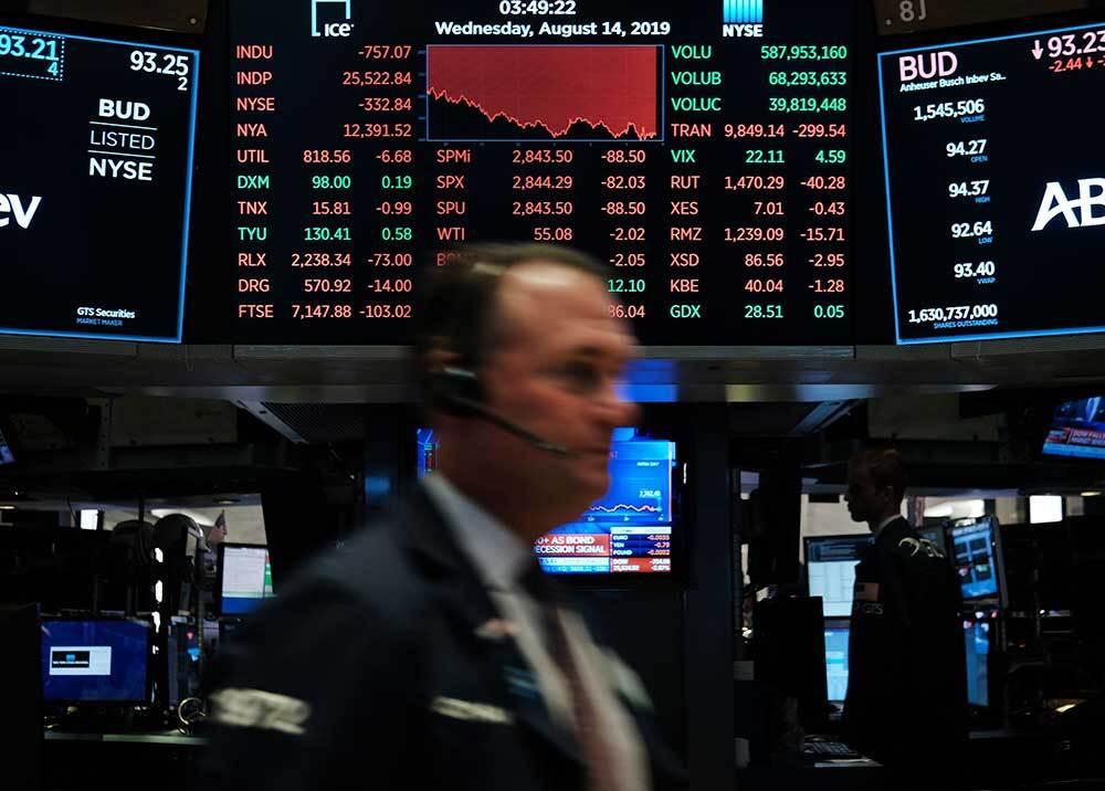 341131_BLU Radio // Caída de bolsas Wall Street // Foto: AFP