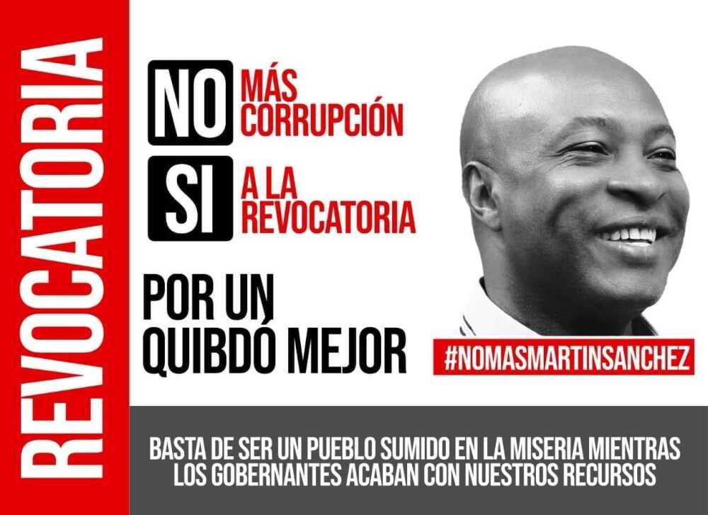 Con recolección de 10.000 firmas, en Quibdó buscarán revocar al alcalde Martín Sánchez