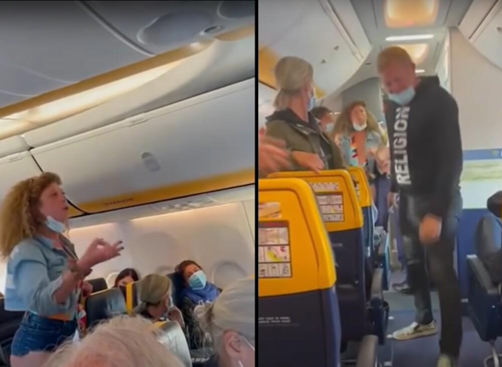 Mujer escupió y pateó a los pasajeros de un avión