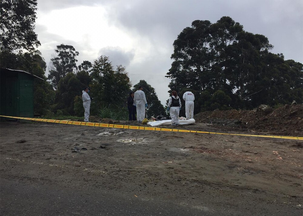 Encuentran cuerpos embolsados en San Cristóbal.