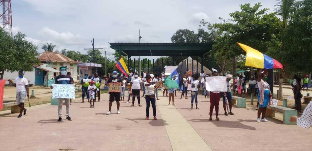 371927_Plantón en Palenque. Foto: Cortesía