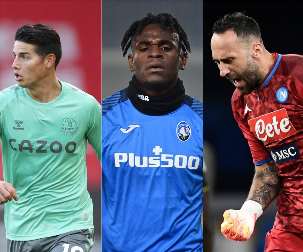 Jugadores colombianos en Europa / Fotos AFP