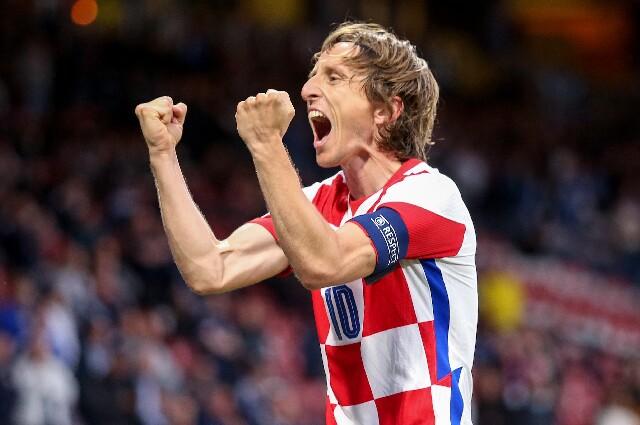 Luka Modric, en Croacia contra Escocia