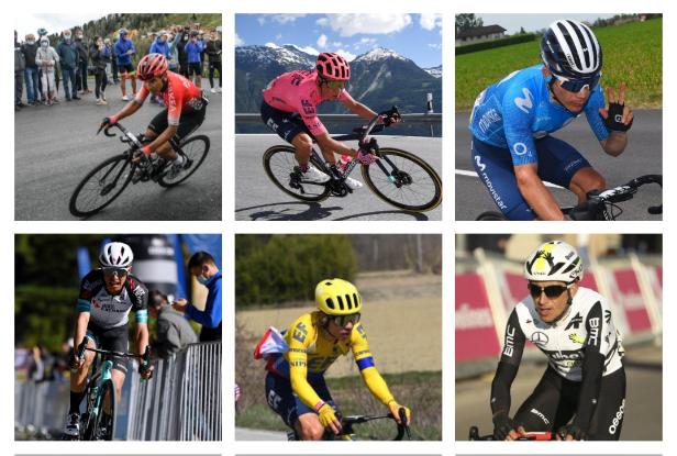 Nairo Quintana, Rigoberto Urán, Miguel Ángel López, Esteban Chaves, Sergio Higuita y Sergio Henao serán los ciclistas colombianos que disputarán el Tour de Francia 2021.