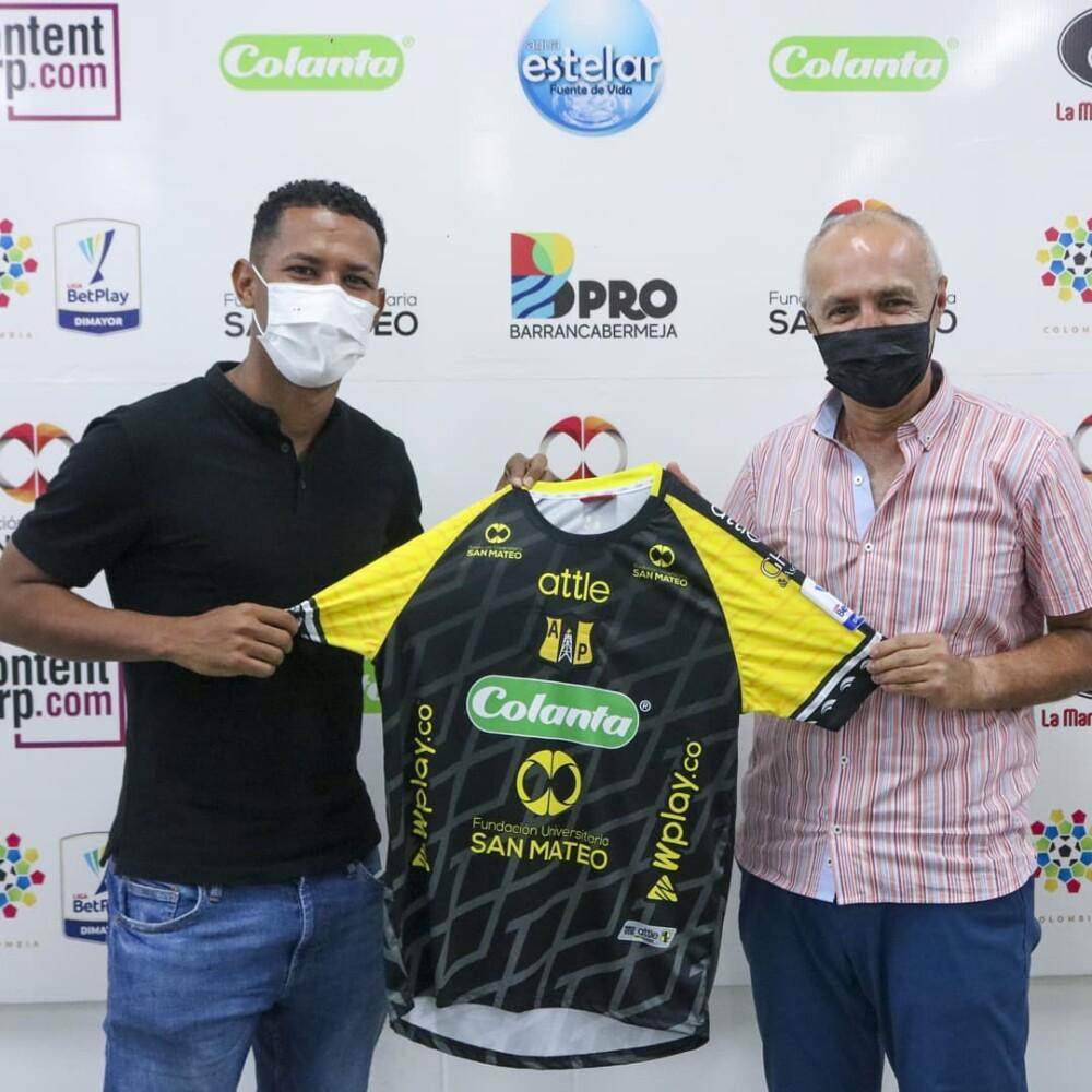 James Sánchez, nuevo jugador de Alianza Petrolera. @APetrolera.jpg