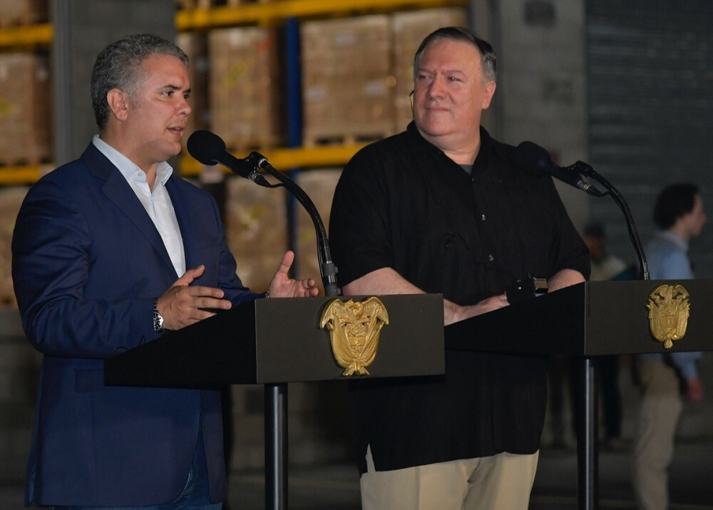 332082_BLU Radio // Ivan Duque - Mike Pompeo // Foto: Presidencia