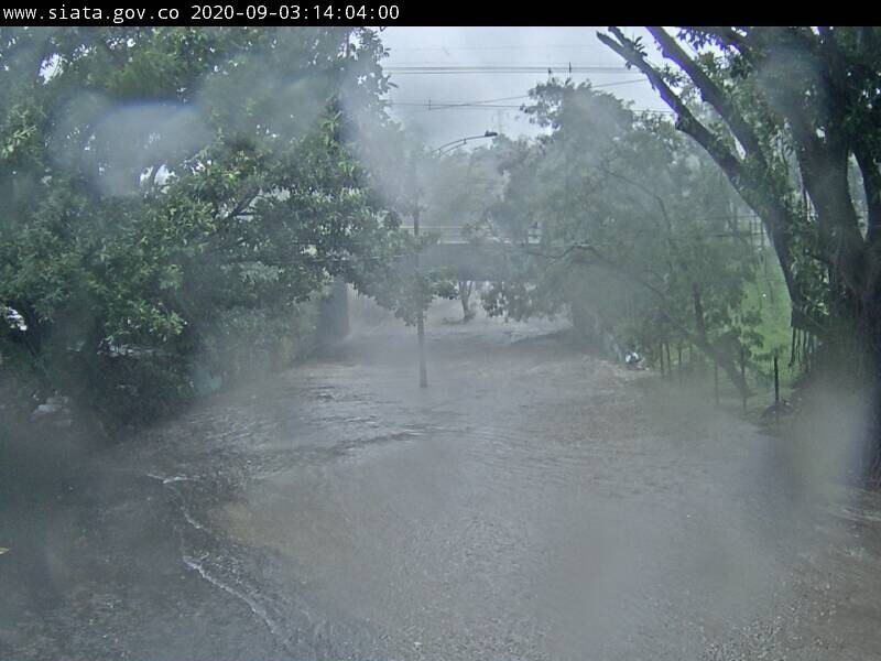 376632_Árboles caídos e inundaciones en varias vías por las fuertes lluvias en Medellín. / Fotos: Cortesía