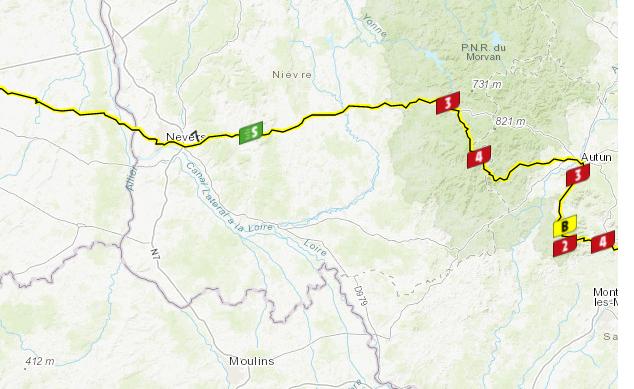 Así será la etapa 7 del Tour de Francia.